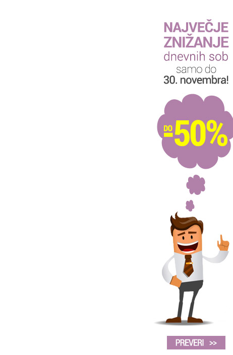 Akcija dnevnih sob do -50%