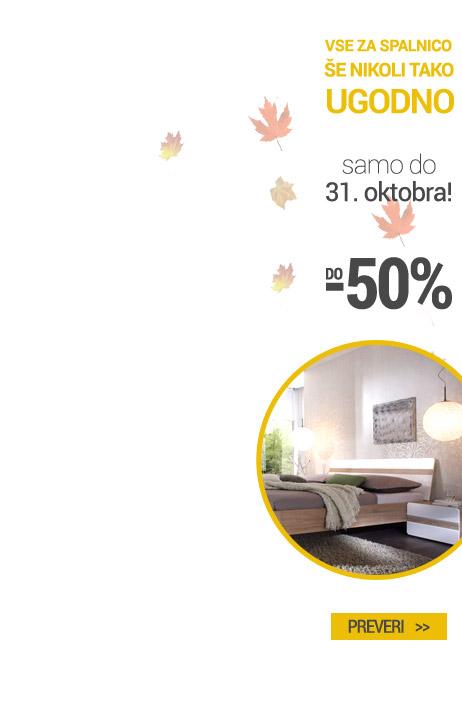 Spanje do -50%
