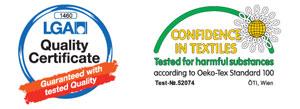 LGA-Certifikat in Oko-Tex Standard 100