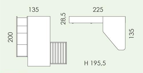 Tloris otroške sobe Eresem Volo V126