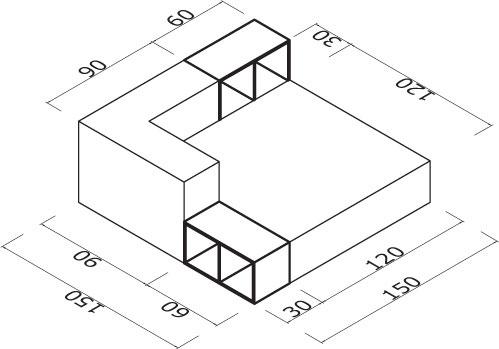 Sedežna garnitura Trentapertrenta C1: dimenzije
