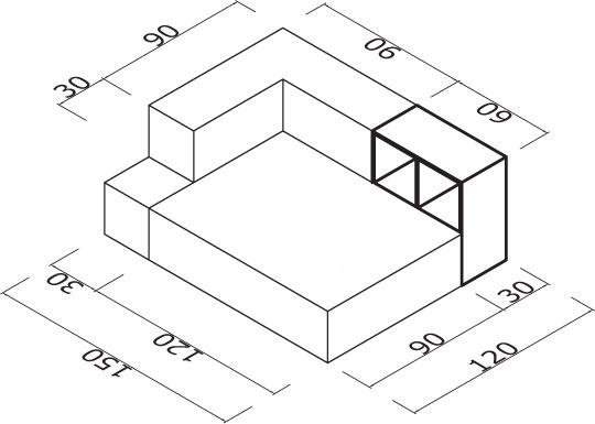 Sedežna garnitura Trentapertrenta Cl13: dimenzije