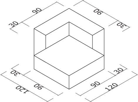 Sedežna garnitura Trentapertrenta CLF-11: dimenzije