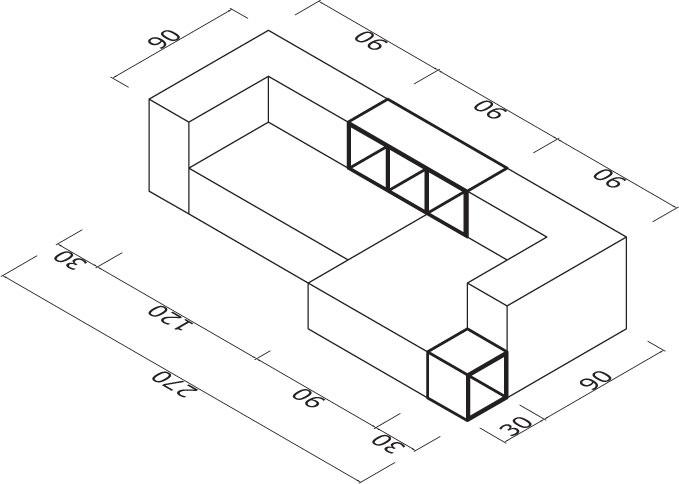 Sedežna garnitura Trentapertrenta D8-1: dimenzije
