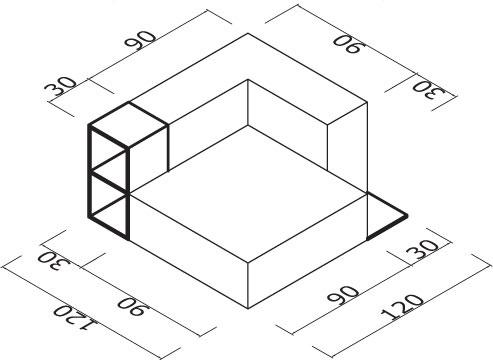 Sedežna garnitura Trentapertrenta L1-11 dimenzije