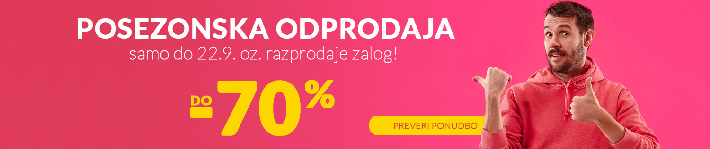 Mega odprodaja -70%