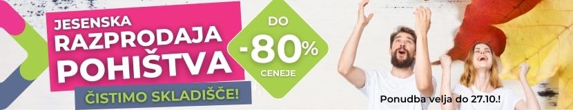 Jesenska razprodaja do -80%