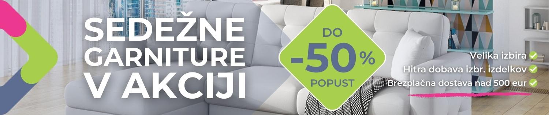Sedežne garniture do -50%