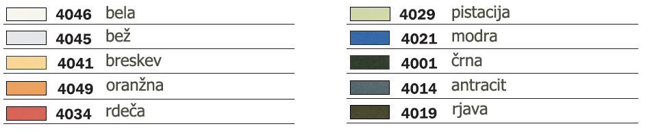 Barve stola naslonjača Gogo'