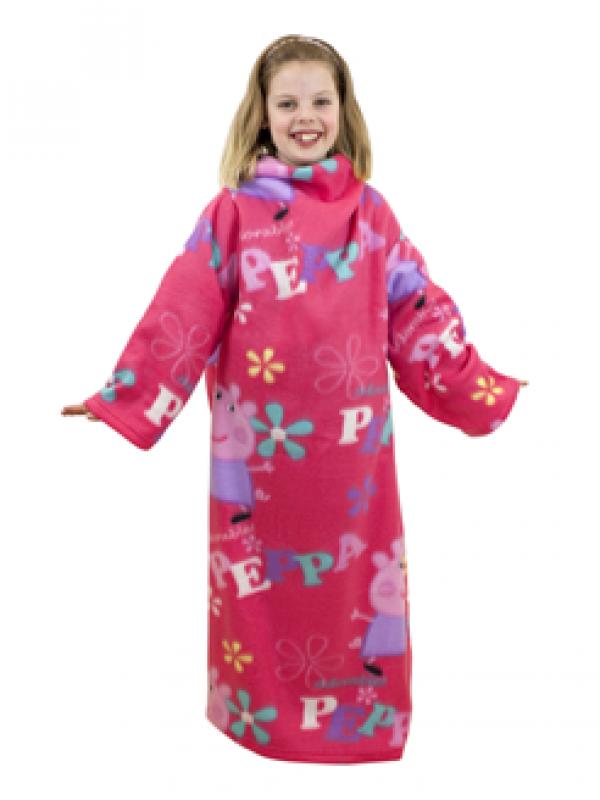 Otroška odeja z rokavi Pujsa Pepa 'Adorable'