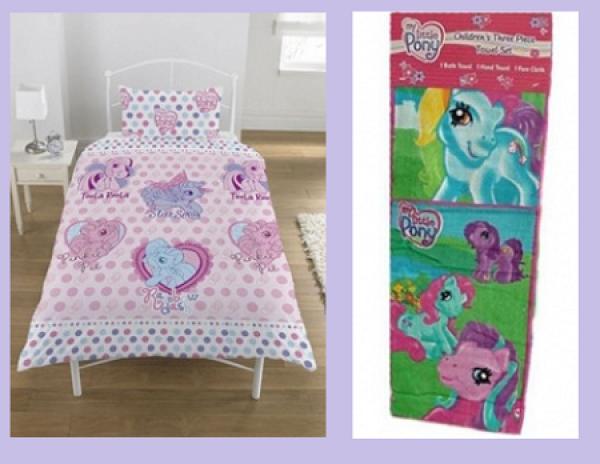 Otroška posteljnina (PON013) + brisača (PON007) 'My Little Pony' Kpl001