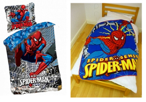 Otroška posteljnina (SPI147) + odeja (SPI136) 'Spiderman' Kpl001