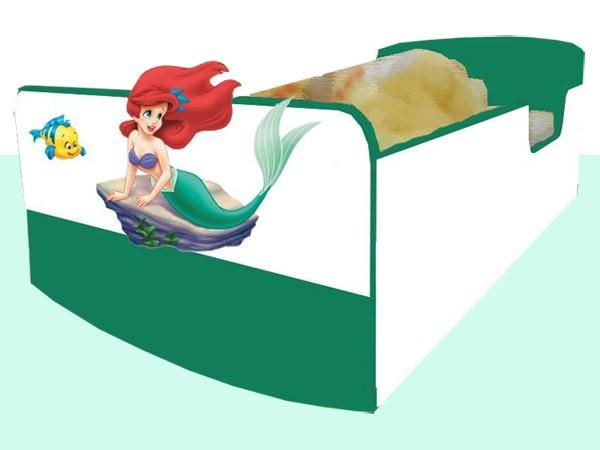 Otroška postelja ARIELA (zeleno-bela)