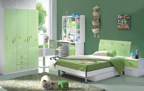 Otroška soba KROG (postelja, nočna omarica, garderobna omara)