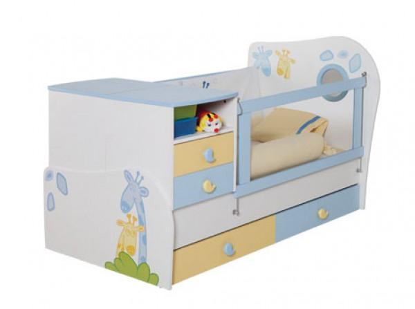 Otroška posteljica s stranskim predalnikom Baby Love