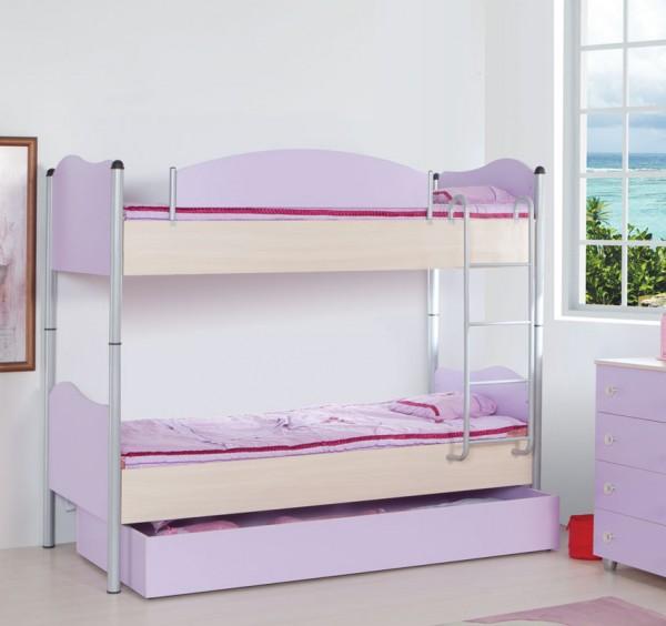 Otroški pograd Lila s pomožno izvlečno posteljo