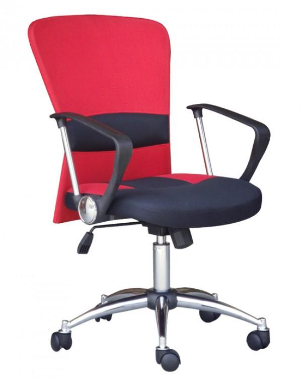 Pisarniški stol K-9005 (rdeče-črno MESH)
