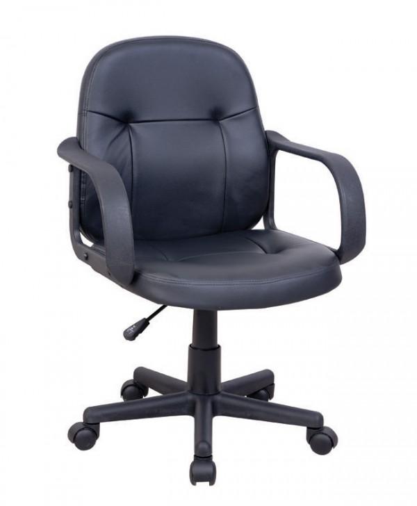 Pisarniški stol NI24 (EKO usnje črne barve)
