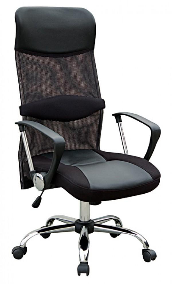 Pisarniški stol PS001 (EKO usnje črne barve)
