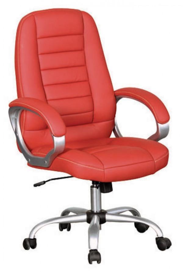 Pisarniški stol PS037 (EKO usnje rdeče barve)