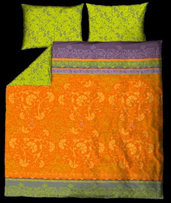 Posteljnina Nostalgia Oranžna dvojna (več dimenzij)