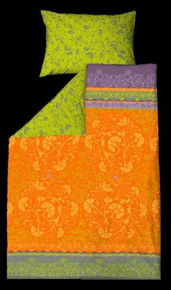 Posteljnina Nostalgia Oranžna enojna (dve dimenziji)