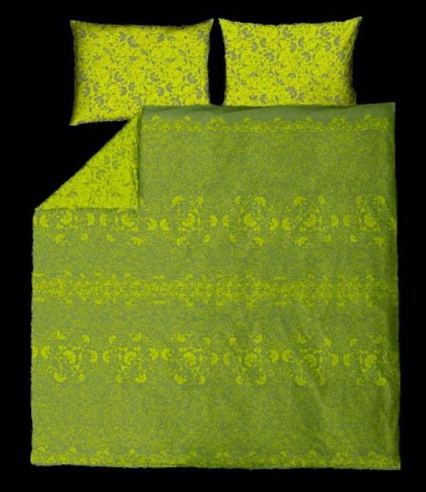 Posteljnina Nostalgia Zelena dvojna (več dimenzij)