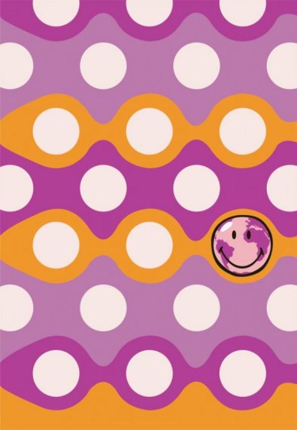 Preproga SITAP Smiley 8905 Purple (dimenzije: 100x150 in 140x200)