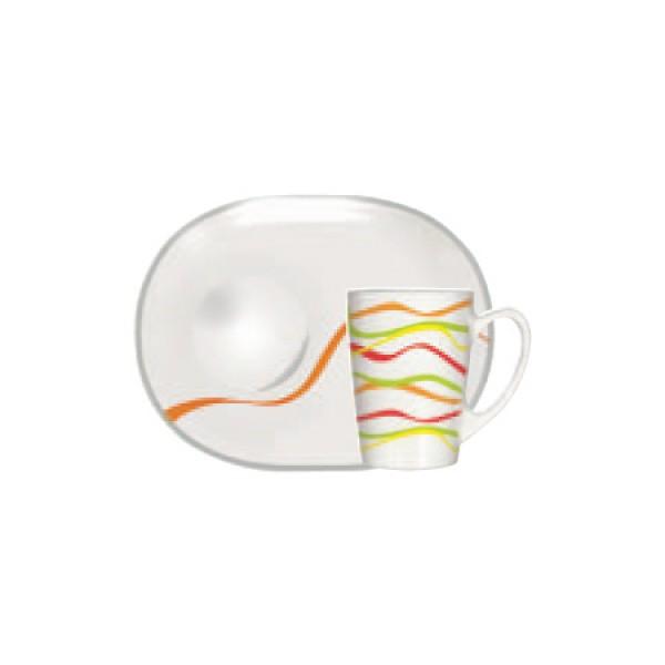 Skodelice za kavo Rubans (6x skodelica in krožnik)
