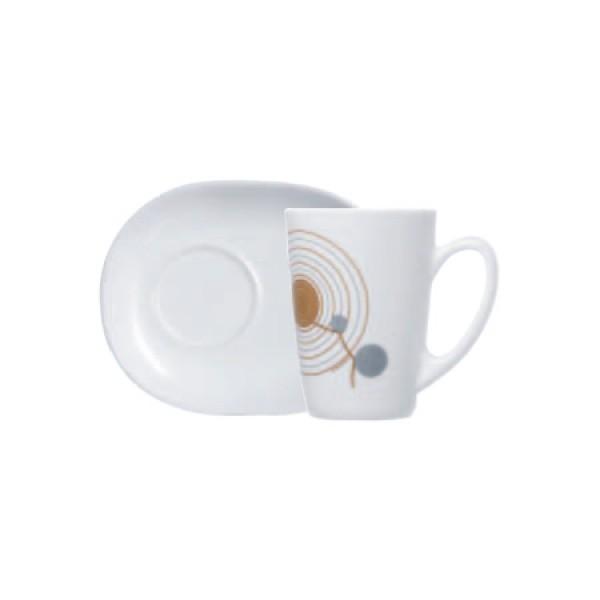 Skodelice za kavo Sequins Bela (6x skodelica in krožnik)