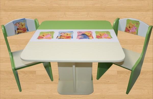 Otroški stolček Medvedek Pu (zelena-bež)