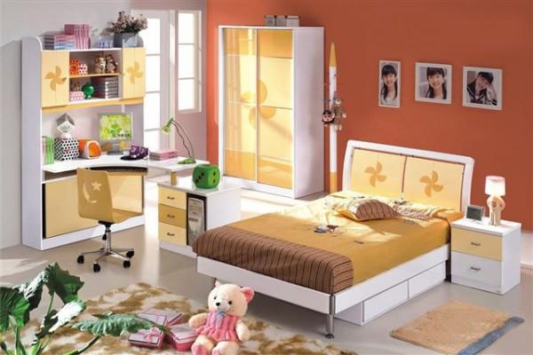 Otroška soba YELLOW (postelja, nočna omarica, garderobna omara)