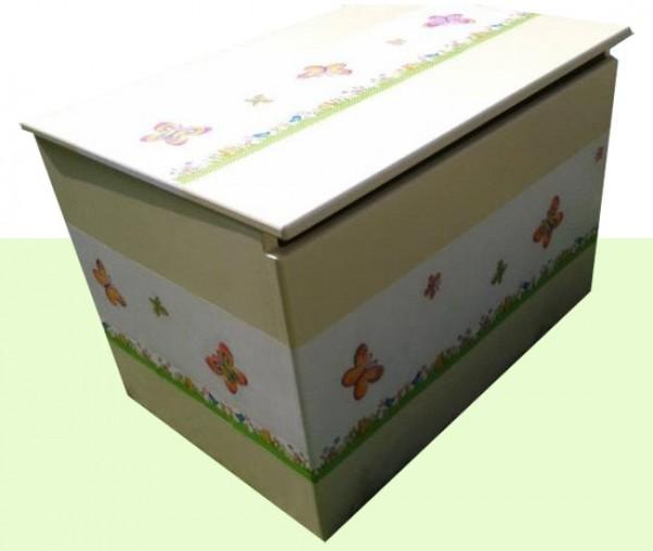 Zaboj za igrače metuljčki (rumen)