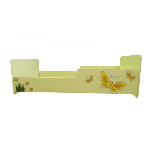 Otroška posteljica METULJČKI (rumena)