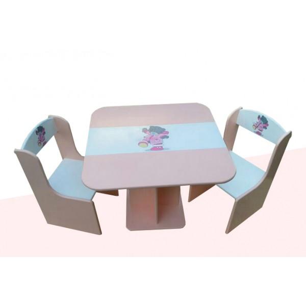 """Otroška mizica in stolčka """"Me To You"""" (roza)"""