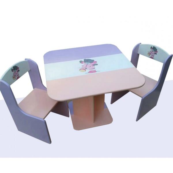 """Otroška mizica in stolčka """"Me To You"""" (vijolična-roza)"""