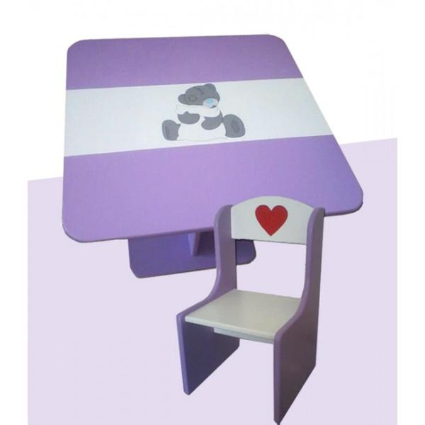 """Otroška mizica in stolčka """"Me To You"""" (vijolična)"""