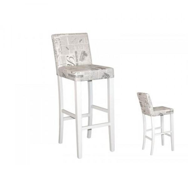 Barski stol MILANO (bel)