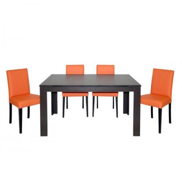 Jedilnica KIRA w/o (4 stoli + raztegljiva miza)