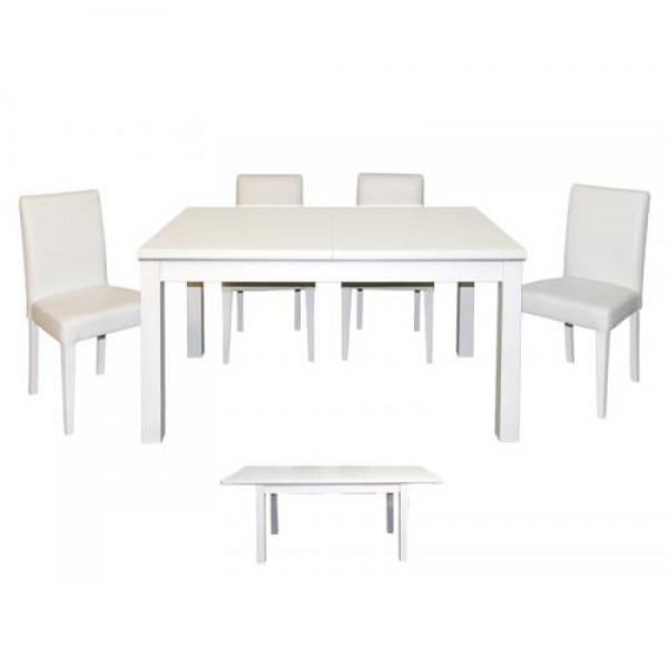 Jedilni set PORTO bela (miza + 4 stoli)