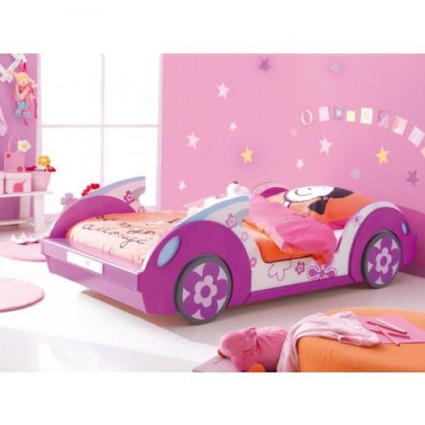 Postelja FLOWER s posteljnim podom