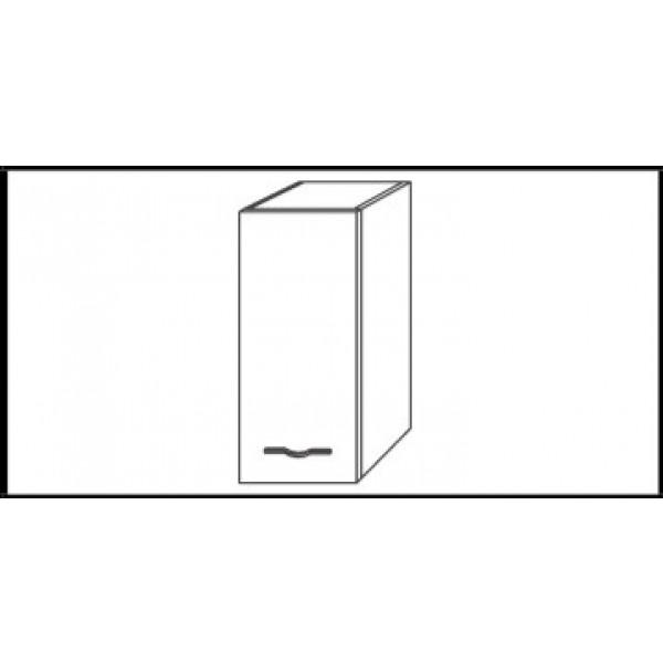 Viseča omarica z vrati CORALLO - hrast