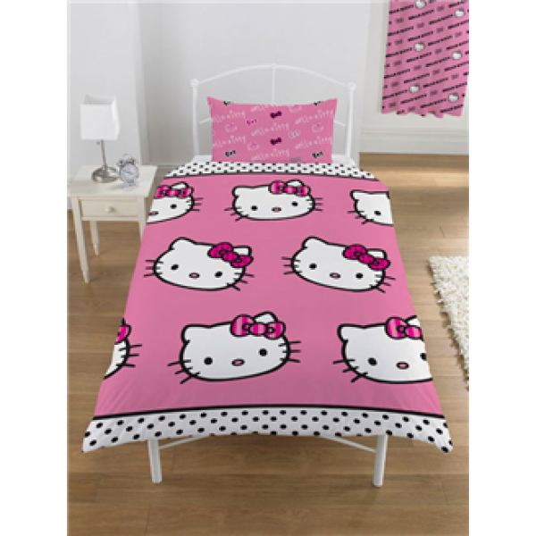 "Otroška posteljnina  Hello Kitty ""Stripe"" Single"