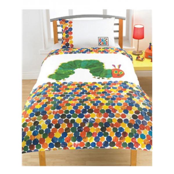 Otroška posteljnina Zelo lačna gosenica 'Spots' Single