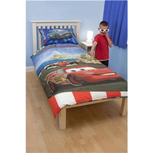 "Otroška posteljnina + 3D OČALA Disney Cars2 ""Espionage 3D"""