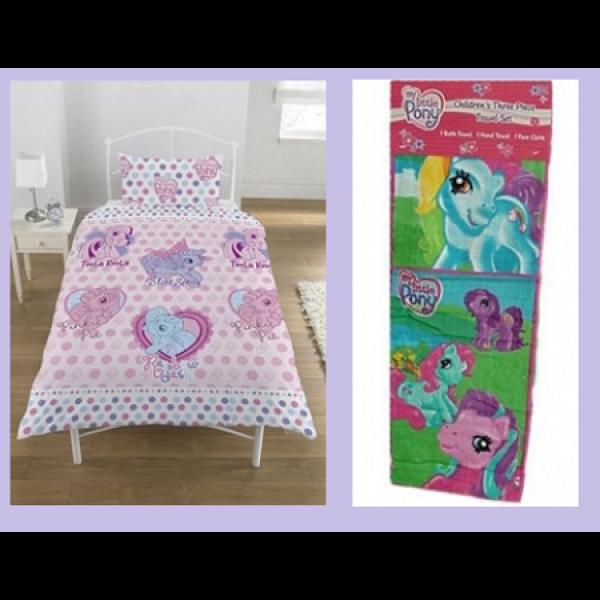 Otroška posteljnina + brisača 'My Little Pony' Kpl001