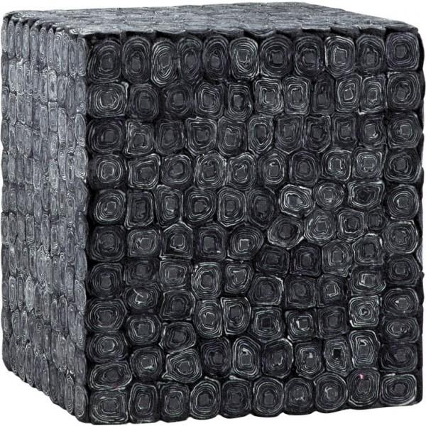 Preproga Sitap PUFF TAILO BLACK 45X45X45