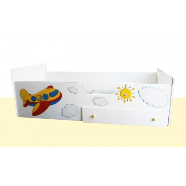 Otroška posteljica AVION s predalom