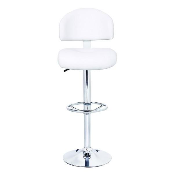 Barski stol OLAF - bela
