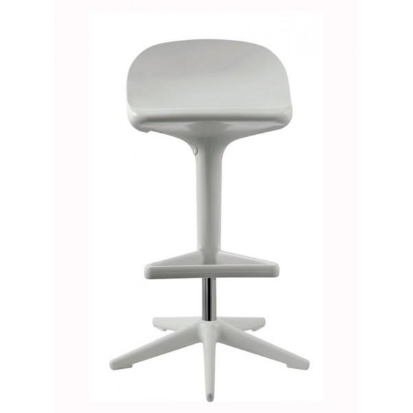 Barski stol Triangle: bela